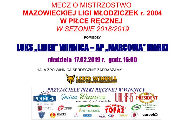 "Mecz Lider Winnica – AP ""Marcovia"" Marki"